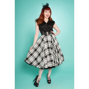 Sandy Swing Dress - Black/White