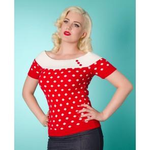 Scarlett Top - Red/White