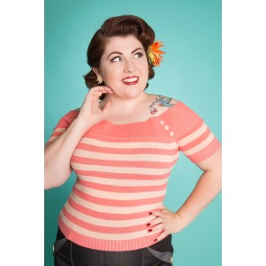 Scarlett Top - Peach Stripes