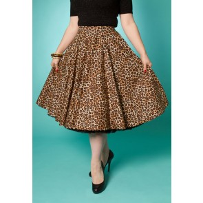 Simple Pleasures - Circle Skirt - Leopard