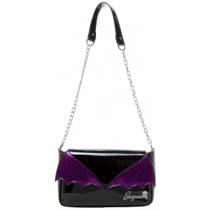Bat Wing Clutch - Black/Purple - by Sourpuss