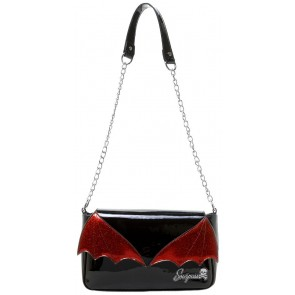 Bat Wing Clutch - Black/Red - by Sourpuss