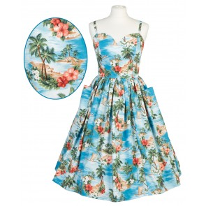 Suzie Sweetheart Dress - Hawaiian Islands