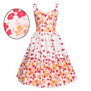 Sweet Pea Dress - Rose Border