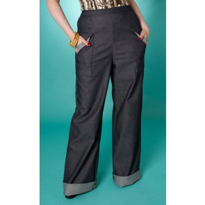 Swing Trousers - Navy Denim