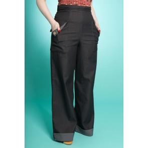 Swing Trousers - Black Denim