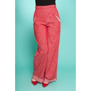 Swing Trousers - Red Denim
