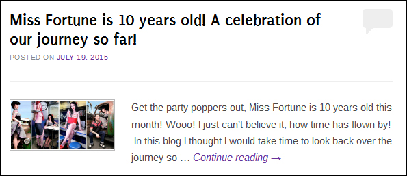 10 years of Miss Fortune Blog