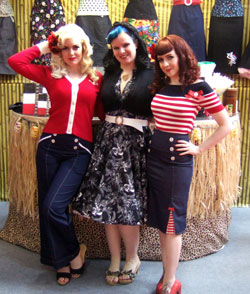 Photo of london edge rockabilly clothing stand
