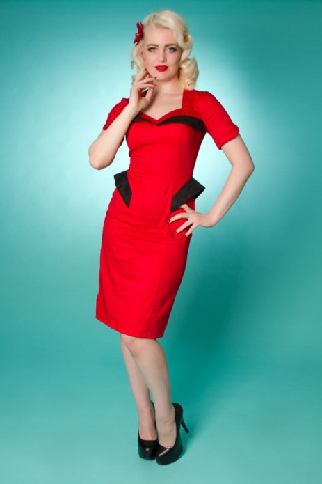 Fins Dress - Red/Black