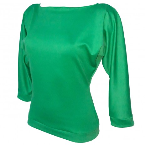 Kitty Batwing Top - Emerald