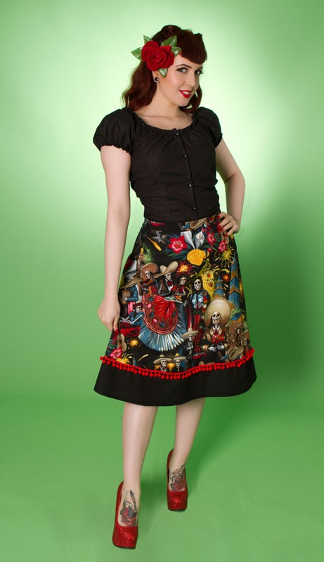 Fiesta Skirt - Day of the Dead