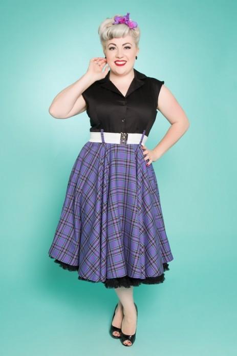 Sandy Swing Dress - Purple/Black