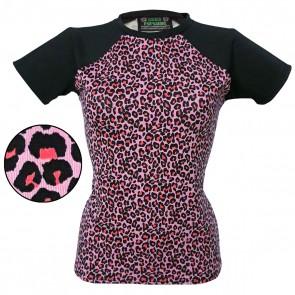 Baseball Tee - Pink Leopard