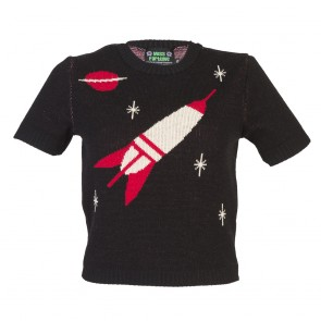 Bobbie Jumper - Space Age - Short Sleeve - Black/Red