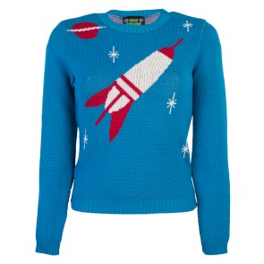 Bobbie Jumper - Space Age - Long Sleeve - Blue