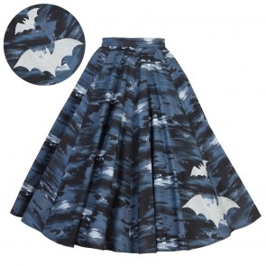 Circle Skirt - Flight of the Bats - Silver
