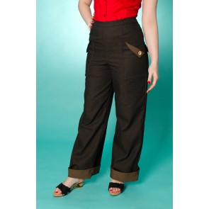 Swing Trousers - Darkest Brown Denim