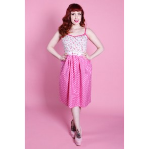 Emma Dress - Polka Dot Rose