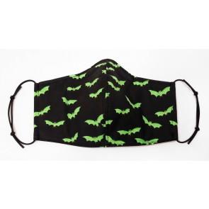 Face Mask - Bats - Green