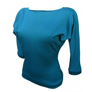 Kitty Batwing Top - Teal