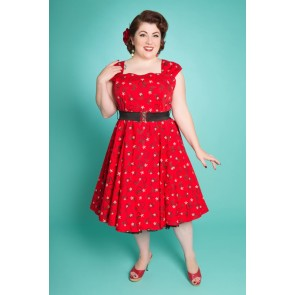 Lady Luck Swing Dress - Atomic