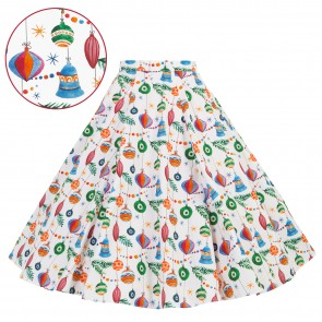 Circle Skirt - Christmas Baubles