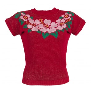 Daphne Jumper - Hibiscus Hunny - Red
