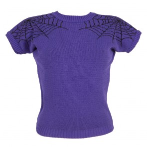 Daphne Jumper - Spider Web - Potion Purple