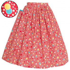 Neat-O Skirt - '30s Bubbles - Cherry