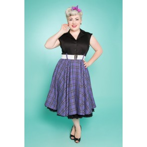 Sandy Swing Dress - Purple/Black