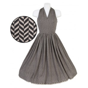 Stella Dress - Black Chevrons