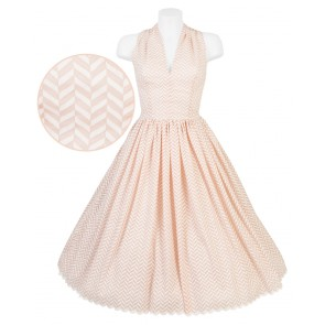Stella Dress - Peach Chevrons