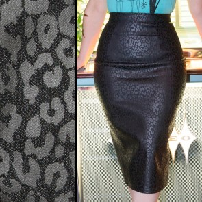 Wiggle Skirt - Black Leopard